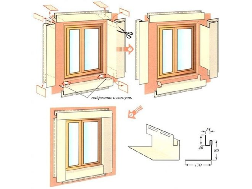 Как отделать окна сайдингом своими руками 541