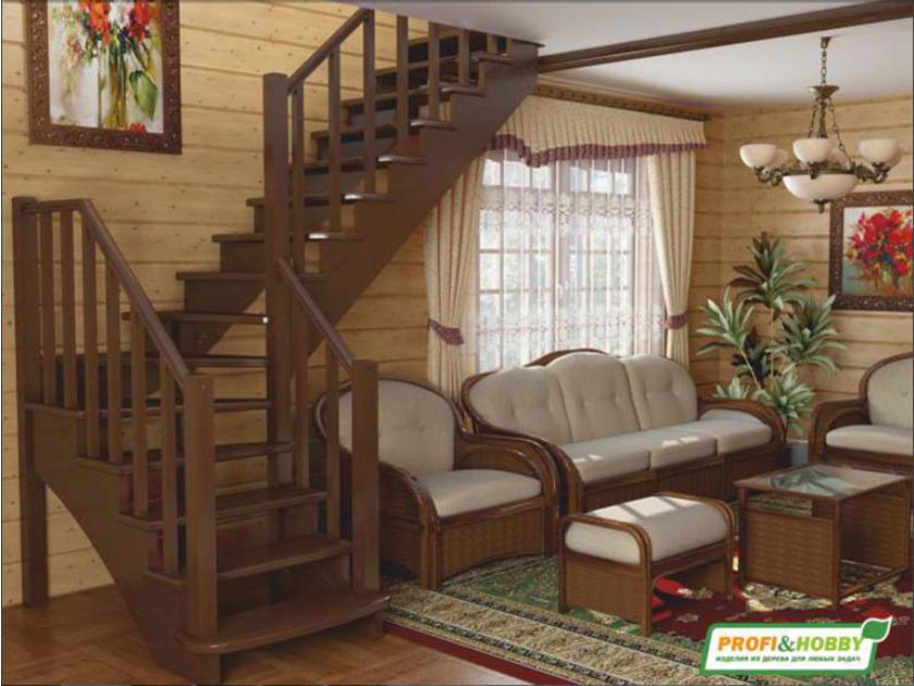 Интерьер деревянного дома - фото новинки современного