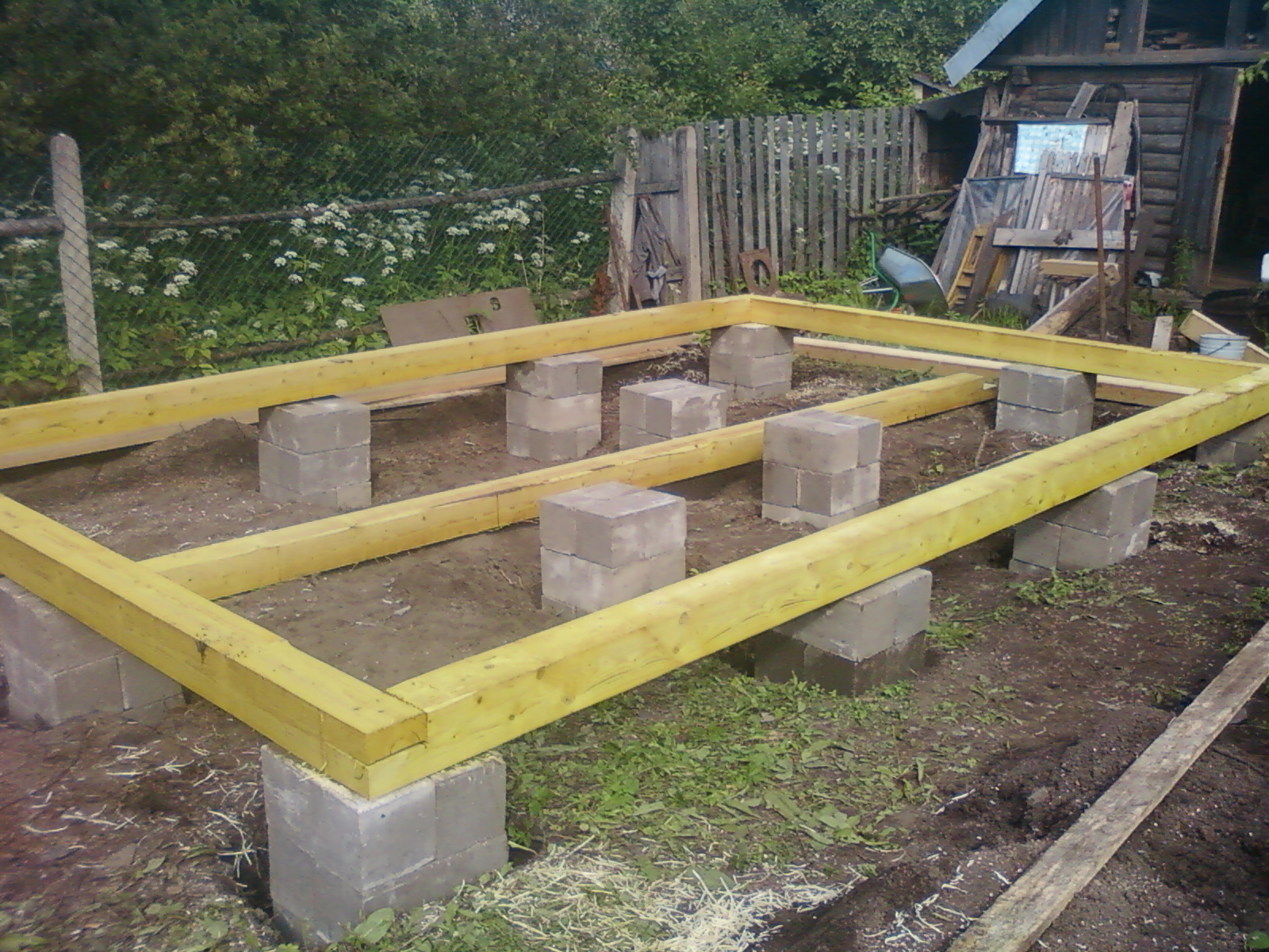 Фундамент для каркасной бани
